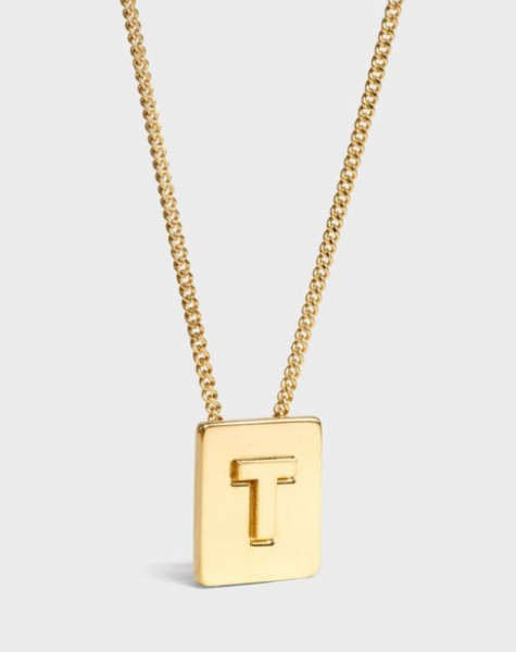 INITIAL Necklace | Letter T