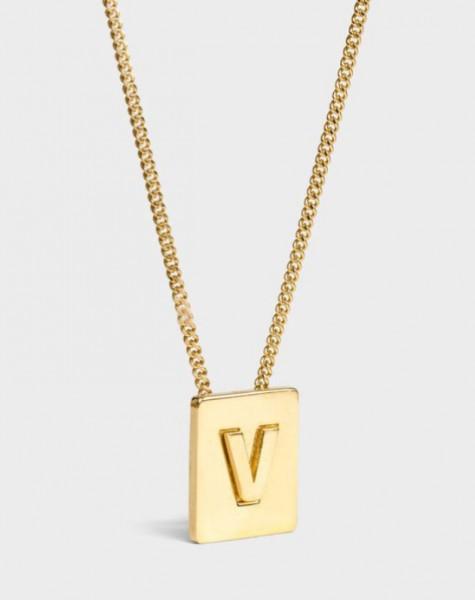 INITIAL Necklace | Letter V