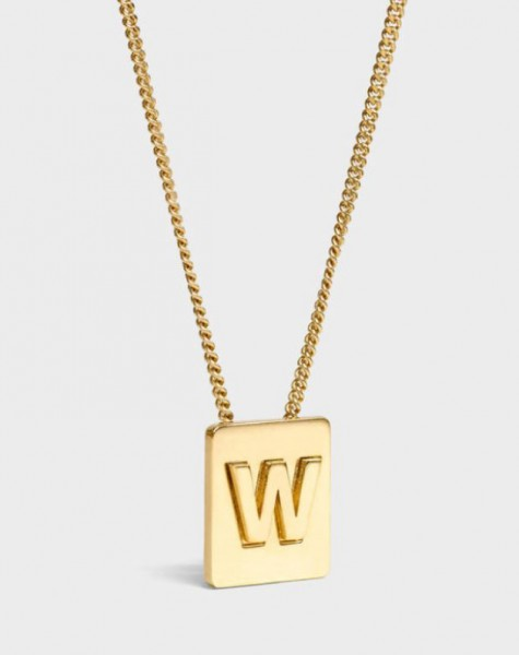 INITIAL Necklace | Letter W