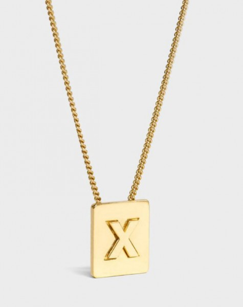 INITIAL Necklace | Letter X