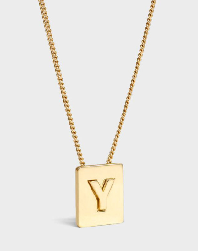 INITIAL Necklace | Letter Y
