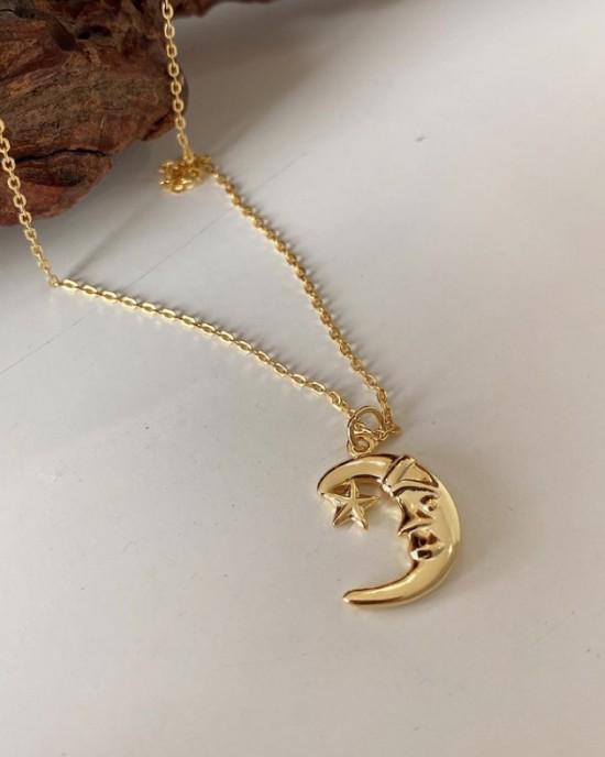LUNE Gold Vermeil Necklace