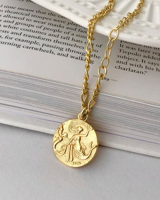 MERMAID Gold Vermeil Coin Necklace