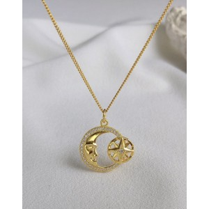 MOON STAR Gold Vermeil Necklace
