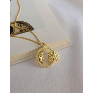 MOON STAR Gold Vermeil Necklace