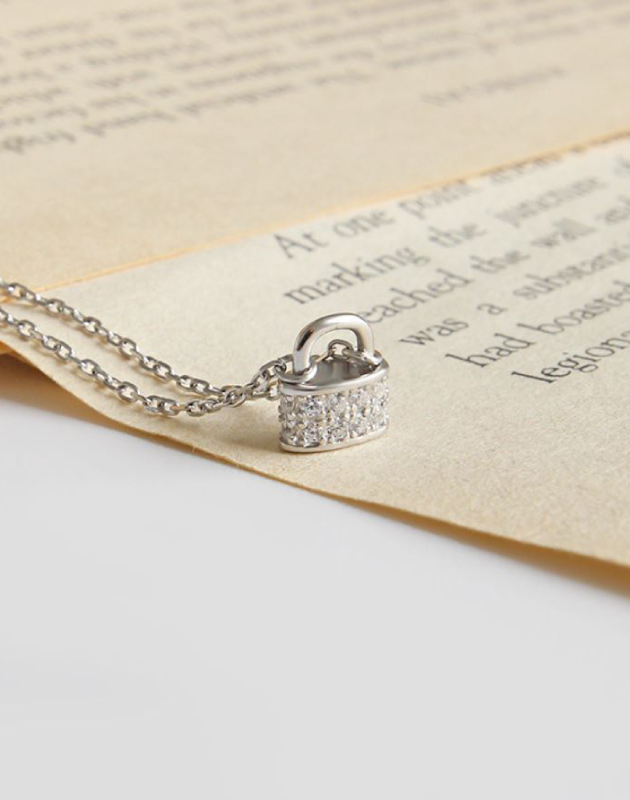 PADLOCK Cubic Zirconia Pendant Necklace