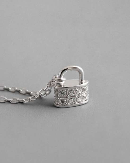 PADLOCK Sterling Silver Necklace