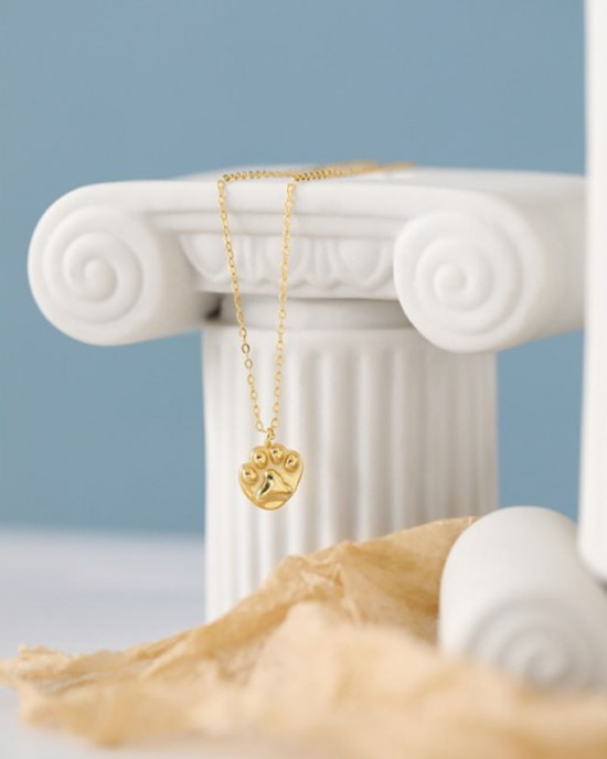 Paw Gold Vermeil Necklace