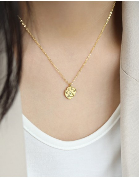 Paw Gold Vermeil Necklace