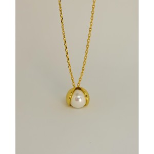 PEARL Bud Gold Vermeil Necklace