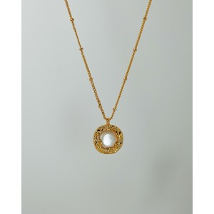 PEARL BUTTON Necklace