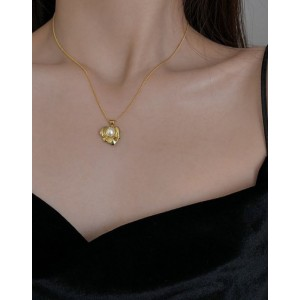 PEARL FLOWER Gold Vermeil Necklace