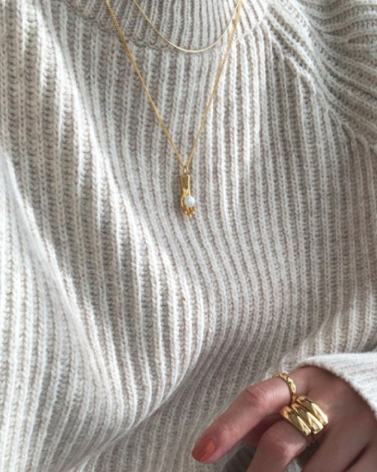PEARL HAND Gold Vermeil Necklace