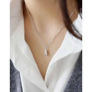 RAINDROP Sterling Silver Necklace