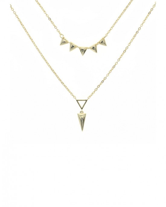 SPIKE Gold Vermeil Layered Necklace