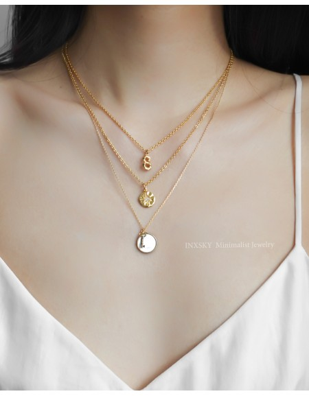 STARBURST Gold Coin Necklace