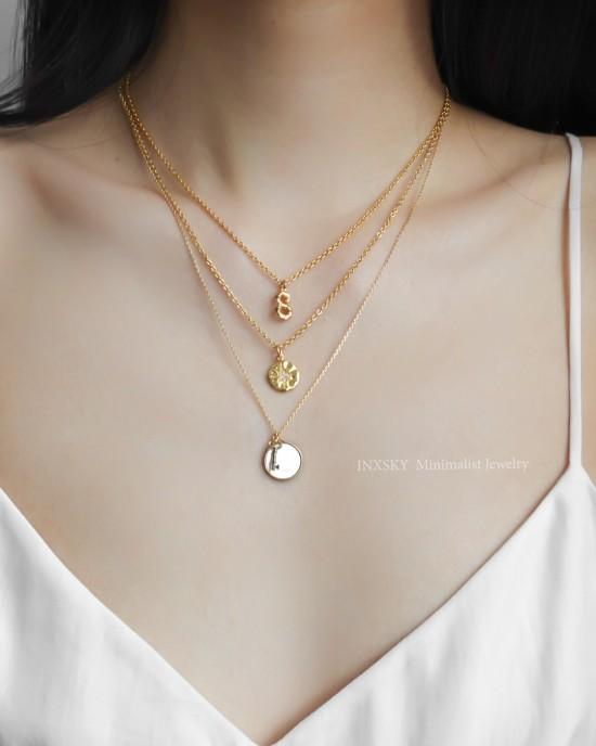 STARBURST Gold Coin Necklace