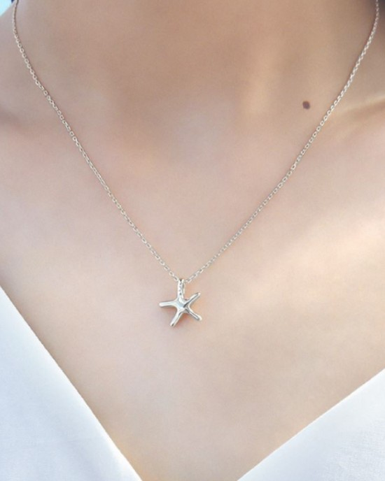 STARFISH Sterling Silver Necklace