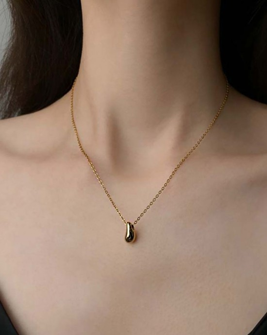 TEARDROP Gold Vermeil Necklace