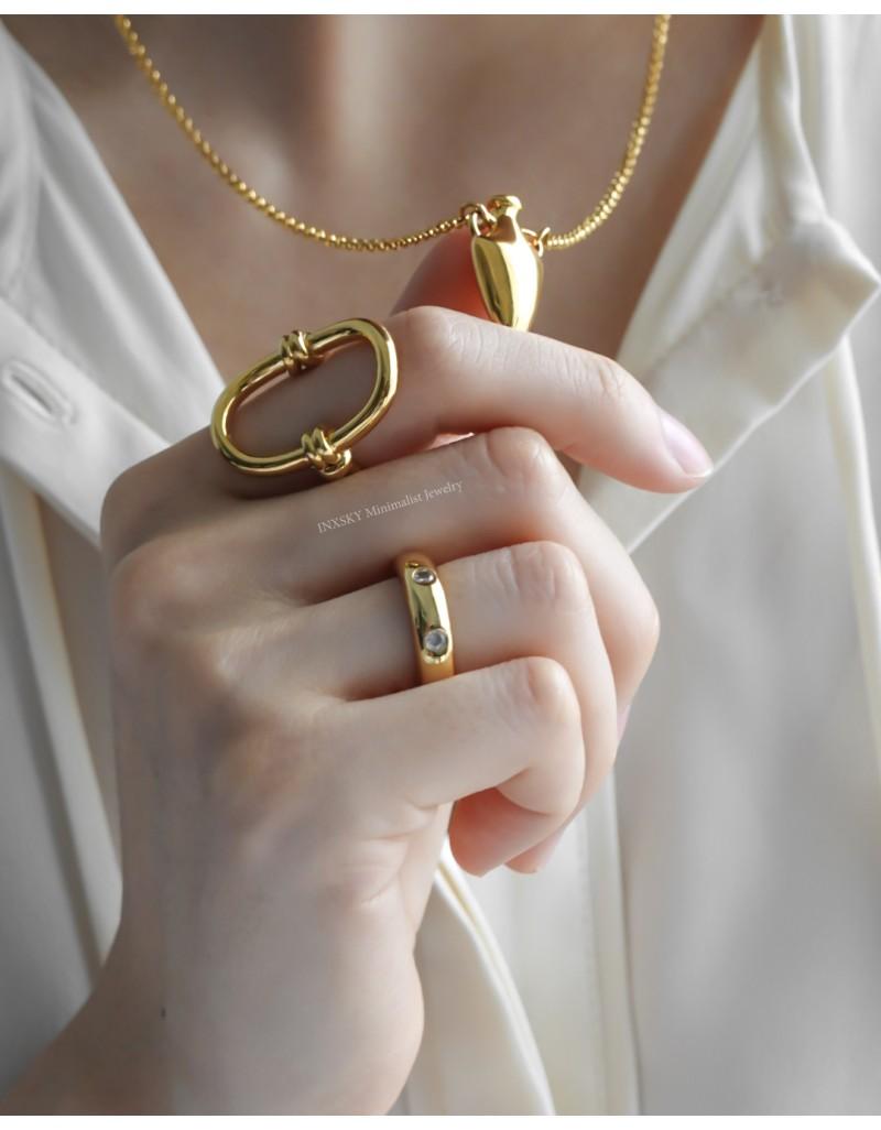 DARIA Cubic Zirconia Band Ring