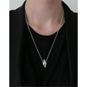 VASE Silver Necklace