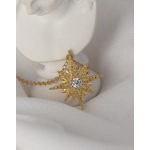 VERGINA STAR Gold Vermeil Necklace