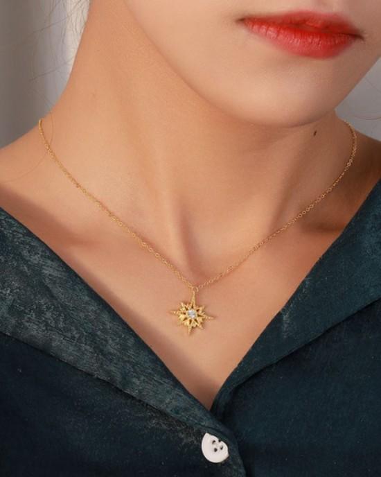 VERGINA STAR Gold Vermeil Necklace
