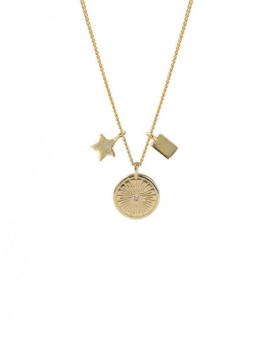 WHEEL Gold Vermeil Necklace