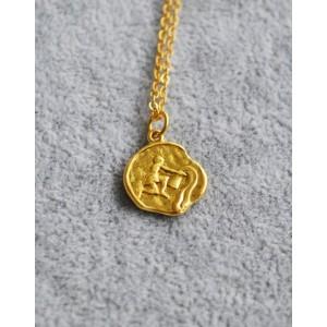 AQUARIUS Zodiac Coin Necklace