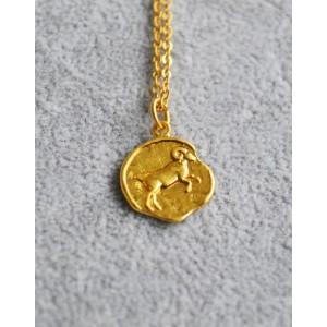 ARIES Zodiac Coin Necklace