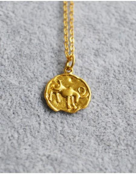CAPRICORN Zodiac Coin Necklace