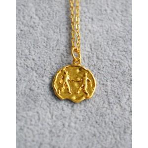 GEMINI Zodiac Coin Necklace