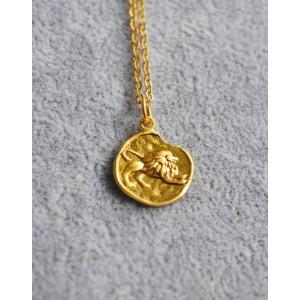 LEO Zodiac Coin Necklace