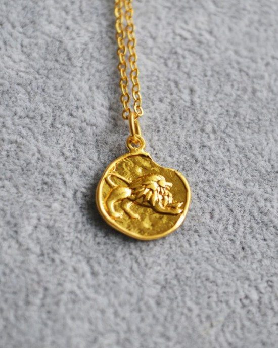 LEO Zodiac Coin Necklace