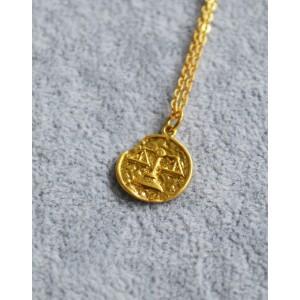 LIBRA Zodiac Coin Necklace