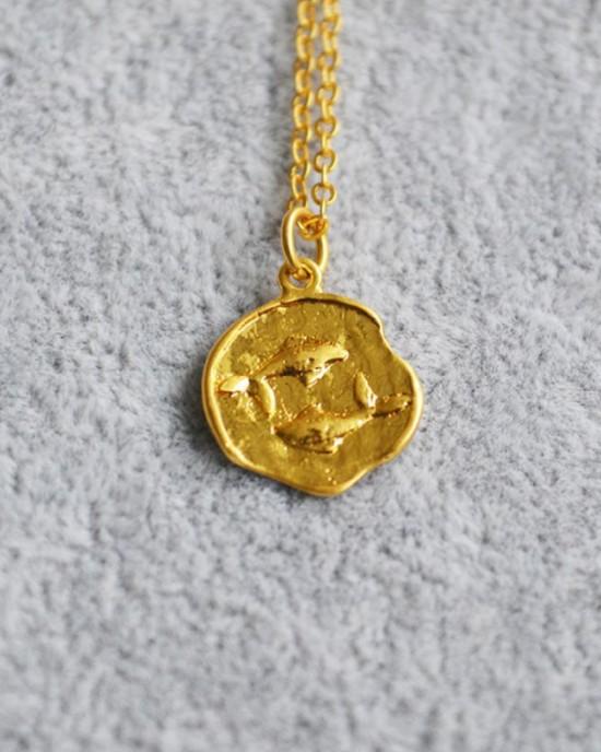 PISCES Zodiac Coin Necklace