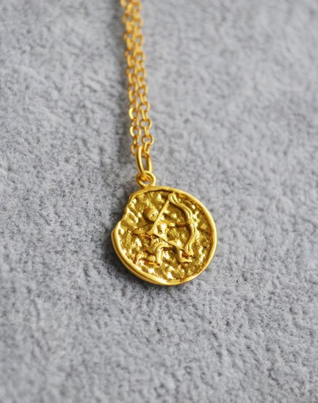 SAGITTARIUS Zodiac Coin Necklace