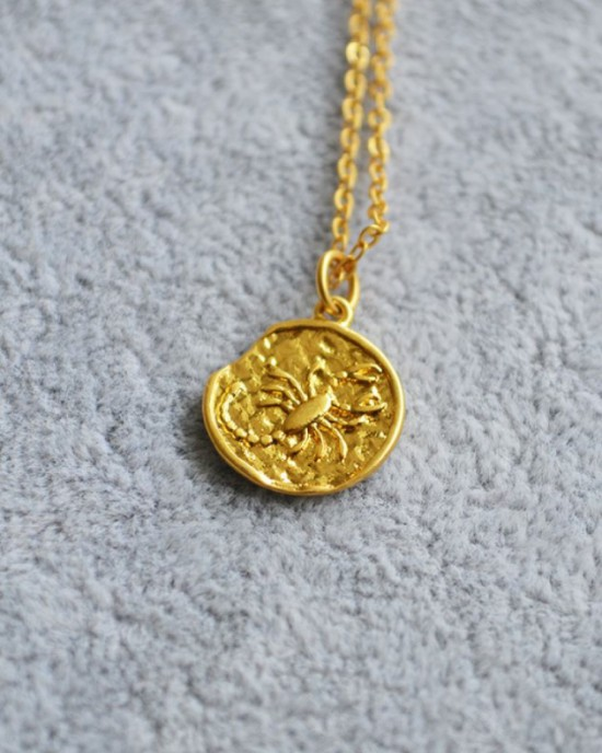 SCORPIO Zodiac Coin Necklace