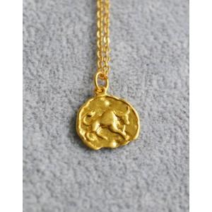 TAURUS Zodiac Coin Necklace