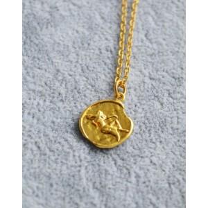 VIRGO Zodiac Coin Necklace