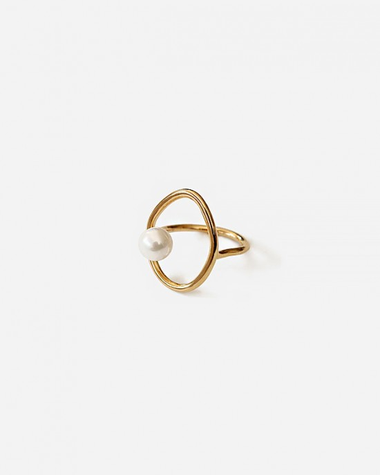 ADELAIDE Gold Pearl Ring