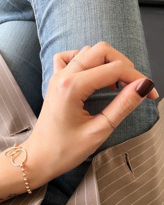 ANAIS Rose Gold Vermeil Ring