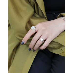 APHRODITE Sterling Silver Nacre Ring