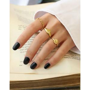 AURORA Gold Vermeil Signet Ring