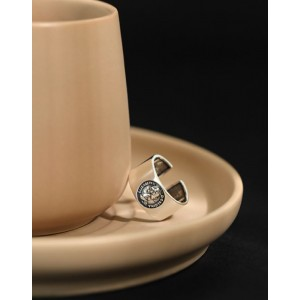 ELIZABETH Silver Boyfriend Stacker Ring