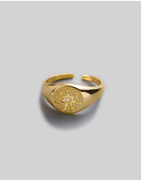 ELVEN Gold Signet Ring
