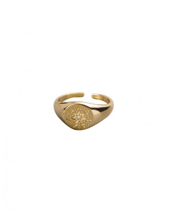ELVEN Gold Vermeil Signet Ring