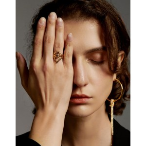 EVIL EYE Gold Vermeil Ring