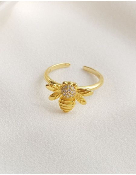 HONEY BEE Gold Vermeil Ring