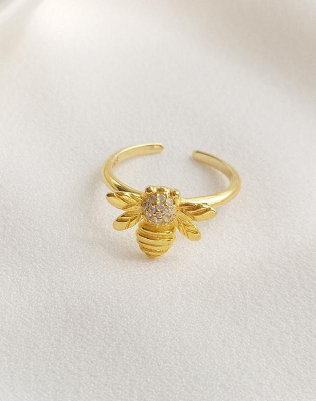 HONEY BEE Gold Vermeil Ring